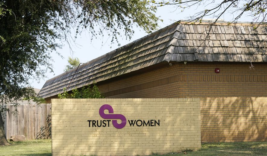The Trust Women clinic is pictured Wednesday, Sept. 1, 2021, in Oklahoma City. In the weeks before Texas' de facto abortion ban, SB 8, went info effect, Trust Women clinics in Oklahoma City and Wichita were already seeing an increase in appointments from Texas patients seeking essential abortion care. (AP Photo/Sue Ogrocki)  **FILE**