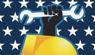 Celebrating Labor Day Illustration by Linas Garsys/The Washington Times