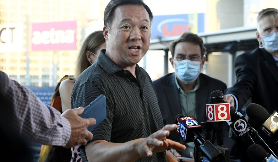Connecticut Attorney General William Tong speaks to the media in Hartford, Conn.(AP Photo/Jessica Hill, File)