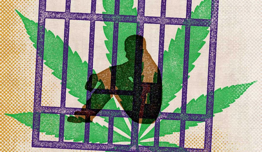 Drug Bust Incarceration and Marijuana Illustration by Greg Groesch/The Washington Times