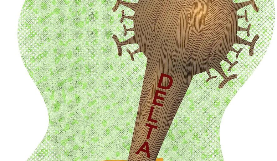 Delta Airlines' COVID-19 Vaccination Cudgel Illustration by Greg Groesch/The Washington Times