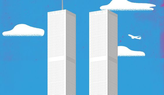 9/11 (September 11, 2001) Attack Remembrance Illustration by Linas Garsys/The Washington Times