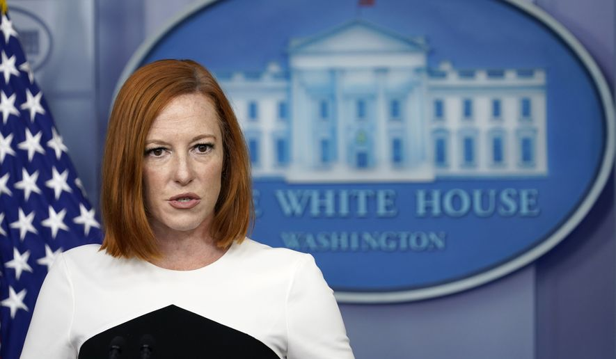 White House press secretary Jen Psaki speaks during the daily briefing at the White House in Washington, Wednesday, Sept. 8, 2021. (AP Photo/Susan Walsh)