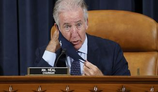 House Ways and Means Committee Chairman Richard Neal, D-Mass., presides over a markup hearing to craft the Democrats' Build Back Better Act, massive legislation that is a cornerstone of President Joe Biden's domestic agenda, at the Capitol in Washington, Thursday, Sept. 9, 2021. (AP Photo/J. Scott Applewhite) **FILE**
