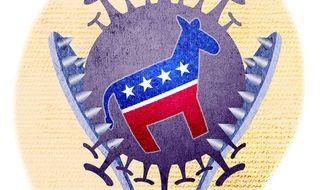 Democrat Dilemma on Abortion Illustration by Greg Groesch/The Washington Times