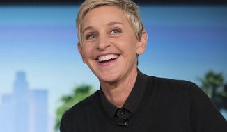 """FILE - Host Ellen Degeneres appears at a taping of """"The Ellen DeGeneres Show"""" in Burbank on Oct. 13, 2016. DeGeneres says the 19th and final season of her daytime talk show will be a thank you to fans. (AP Photo/Andrew Harnik, FIle)"""