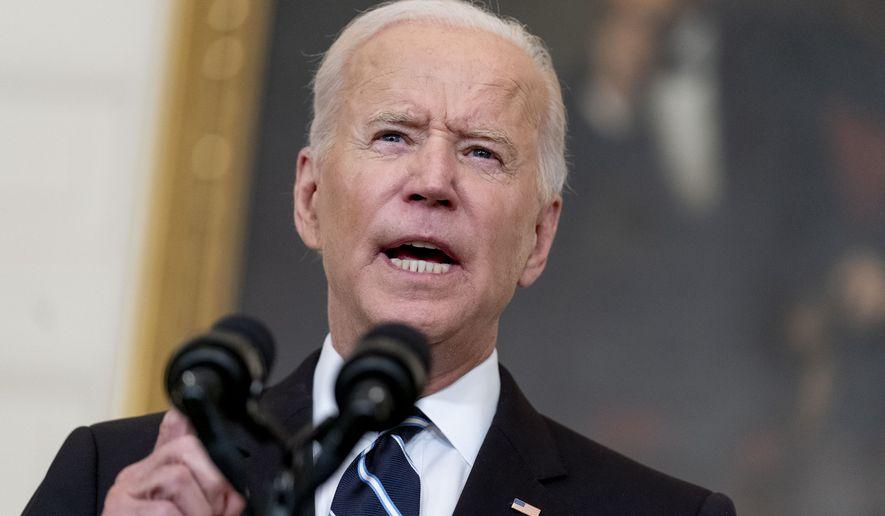 President Joe Biden speaks in the State Dining Room at the White House, Thursday, Sept. 9, 2021. (AP Photo/Andrew Harnik) **FILE**