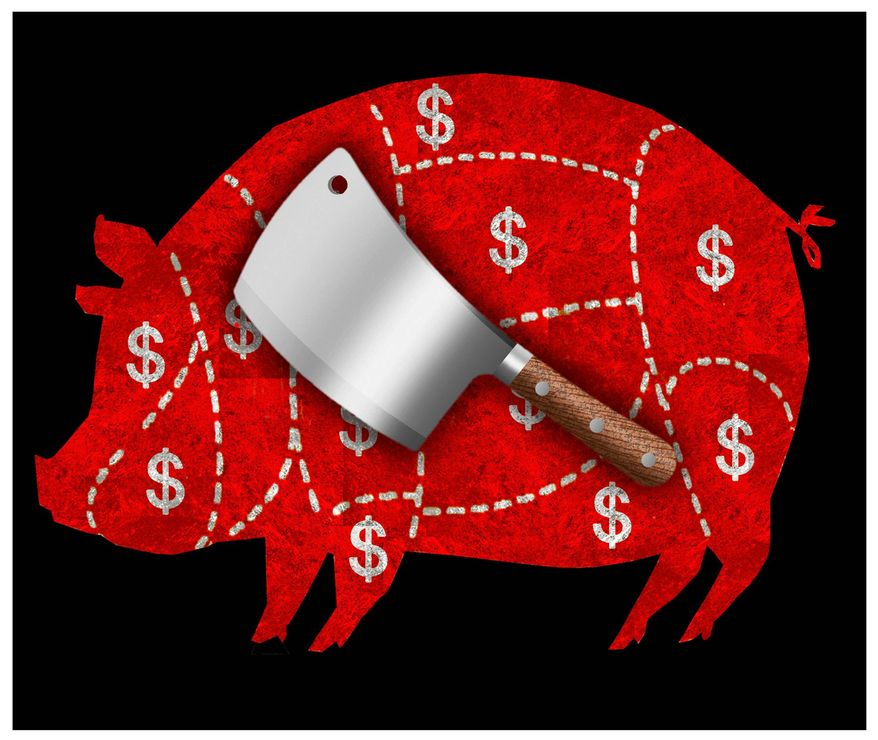 Cutting Pelosi's Budget Illustration by Alexander Hunter/The Washington Times
