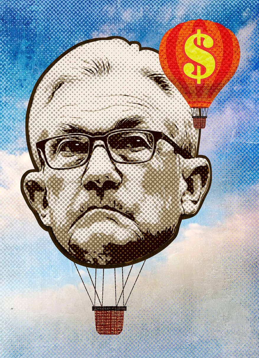 Powell Misreading Inflation Illustration by Greg Groesch/The Washington Times