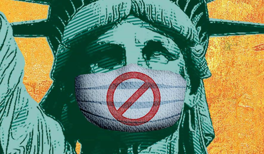 Threat to Personal Liberty and Freedoms Illustration by Greg Groesch/The Washington Times