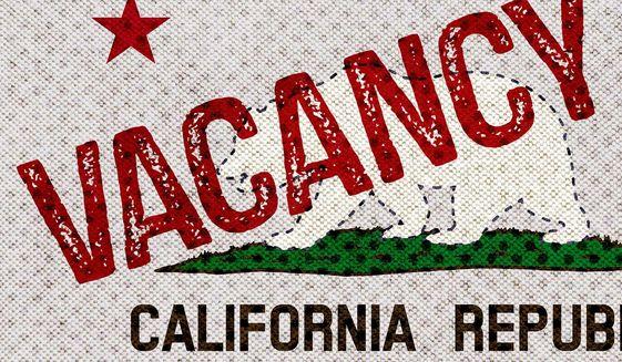 California Vacancy Illustration by Greg Groesch/The Washington Times