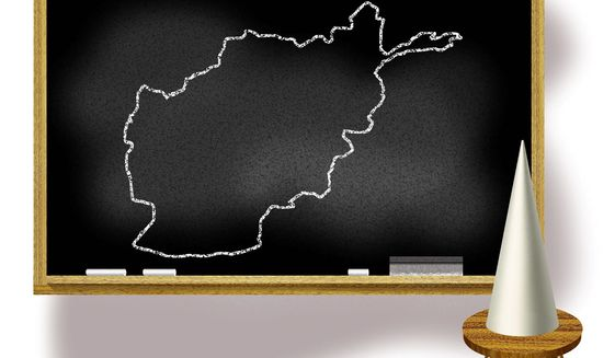 Illustration on lessons from Afghanistan by Alexander Hunter/The Washington Times