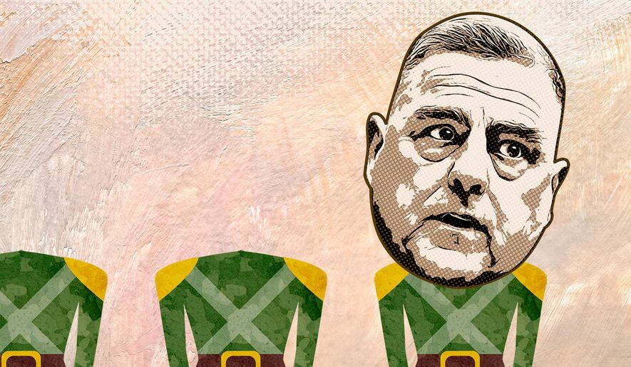 General Mark Milley Tin Soldier Illustration by Greg Groesch/The Washington Times