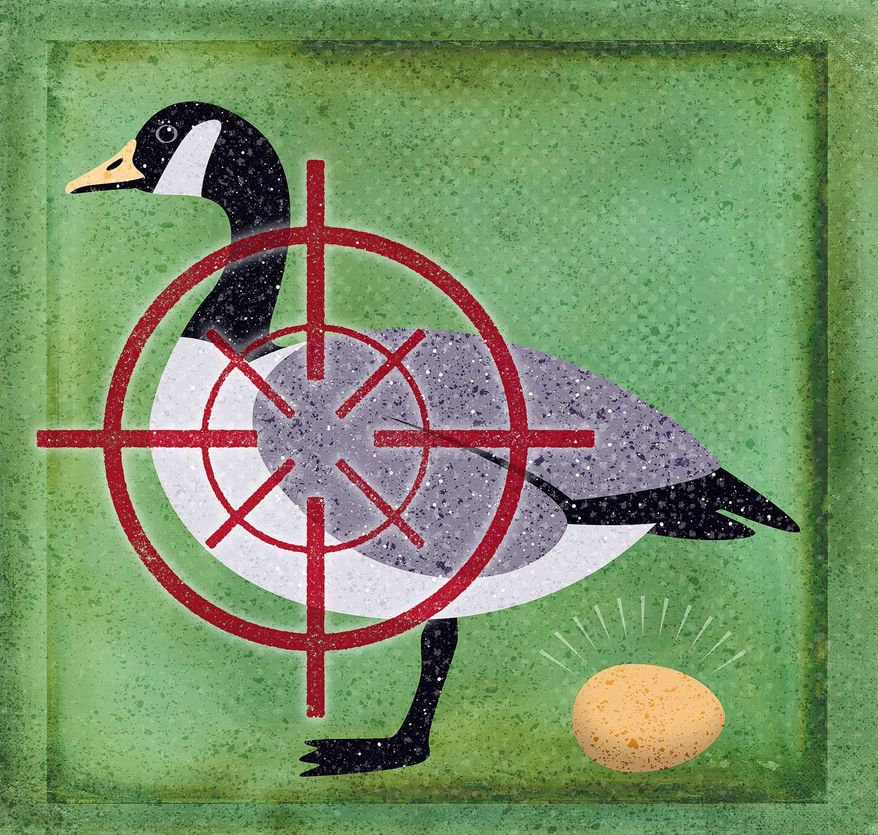 Congress Tax Increases Killing the Goose Illustration by Greg Groesch/The Washington Times