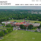 Screen shot from the website for Benet Academy, a Catholic prep school in Lisle, Illinois. (www.benet.org)