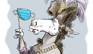 Illustration on Liberal elitism by Alexander Hunter/The Washington Times