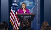 White House press secretary Jen Psaki speaks during a briefing at the White House, Thursday, Sept. 23, 2021, in Washington. (AP Photo/Evan Vucci)