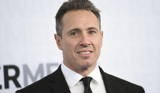This May 15, 2019, file photo shows CNN news anchor Chris Cuomo at the WarnerMedia Upfront in New York. Shelley Ross, a veteran TV news executive, said in an opinion piece in The New York Times that CNN anchor Chris Cuomo sexually harassed her by squeezing her buttocks at a party in 2005. (Photo by Evan Agostini/Invision/AP, File)