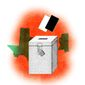Illustration on state voting laws by Alexander Hunter/The Washington Times