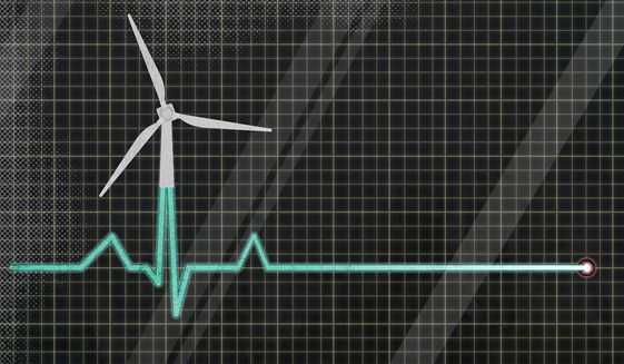 Power Flatline and U.S. Power Grid Illustration by Greg Groesch/The Washington Times