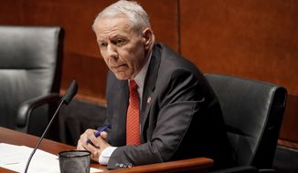 Rep. Ken Buck, R-Colo., asks questions during a House Judiciary Committee hearing on proposed changes to police practices and accountability on Capitol Hill, Wednesday, June 10, 2020, in Washington. (Greg Nash/Pool via AP) **FILE**