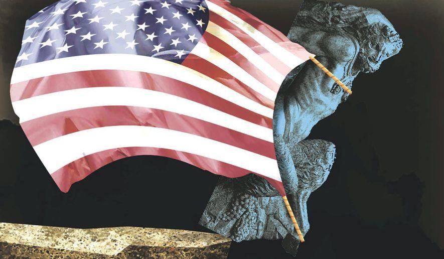 Illustration on  Democrat  debauchery by Alexander Hunter/The Washington Times