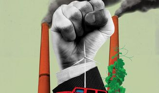 The Climate Path to Communits Power Illustration by Linas Garsys/The Washington Times