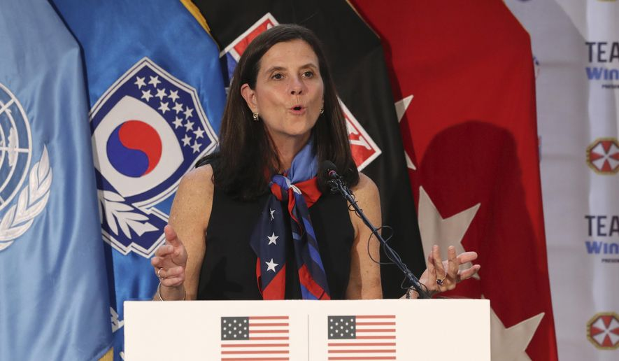 National Women's Soccer League Commissioner Lisa Baird is out after some 19 months on the job amid allegations that a former coach engaged in sexual harassment and misconduct toward players, a person with knowledge of the situation told The Associated Press. The person spoke to the AP on the condition of anonymity because the move Friday, Oct. 1, 2021 had not been made public.(AP Photo/Lee Jin-man, File) **FILE**