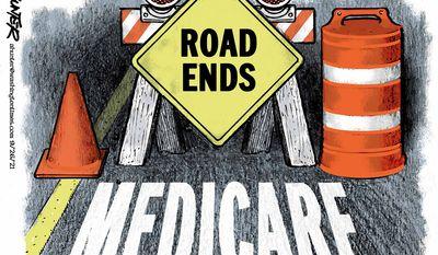 Medicare (Illustration by Alexander Hunter for The Washington Times)