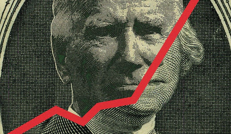 Inflation Crisis for Biden Illustration by Linas Garsys/The Washington Times