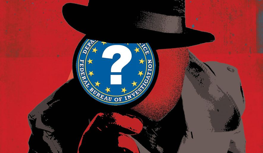 Biden's DOJ and the FBI  Illustration by Linas Garsys/The Washington Times