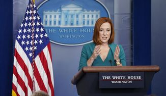 White House press secretary Jen Psaki speaks during the daily briefing at the White House in Washington, Wednesday, Oct. 6, 2021. (AP Photo/Susan Walsh) **FILE**