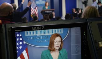 White House press secretary Jen Psaki speaks during the daily briefing at the White House in Washington, Wednesday, Oct. 6, 2021. (AP Photo/Susan Walsh)