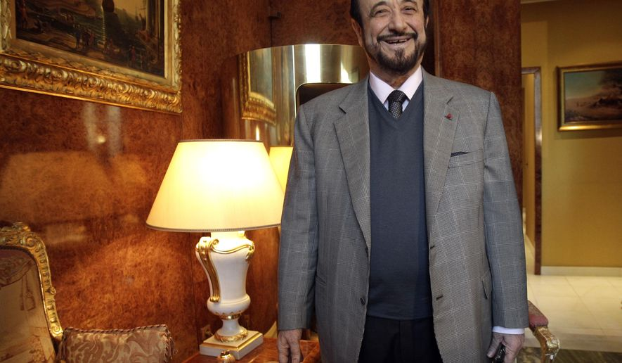 In this2011 file photo, Rifaat Assad poses for a photographer in Paris. President Bashar Assad allowed his exiled uncle back into Syria to avoid serving a four-year prison term in France, where has spent more than 30 years, a pro-government newspaper reported late Friday, Oct. 8, 2021. (AP Photo/Michel Euler, File)