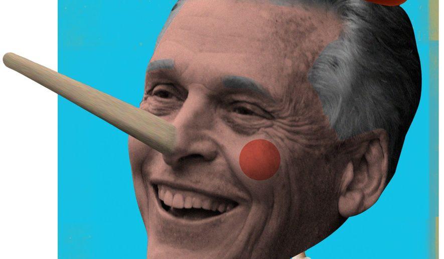 Pinocchio Terry McAuliffe Illustration by Linas Garsys/The Washington Times