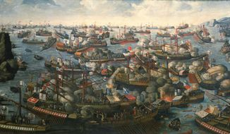 Painting of the Battle of Lepanto of 1571 (public domain)