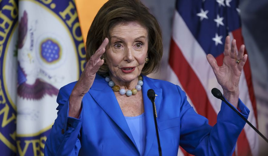 Speaker of the House Nancy Pelosi, D-Calif., speaks during a news conference at the Capitol in Washington, Tuesday, Oct. 12, 2021. (AP Photo/J. Scott Applewhite)