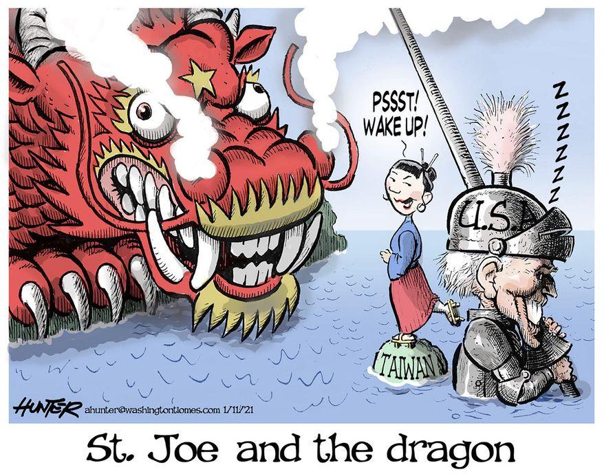 Illustration by Alexander Hunter for The Washington Times (published October 16, 2021)
