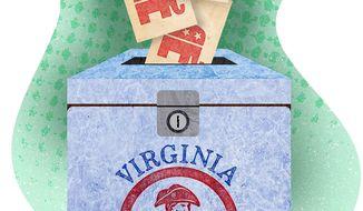 Virginia 2021 Ballot Box Illustration by Greg Groesch/The Washington Times