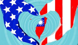 Defending Taiwan from China Illustration by Linas Garsys/The Washington Times