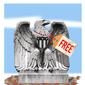 """Illustration on taxpayer funded """"free' government by Alexander Hunter/The Washington Times"""