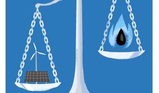 Biden's Assault on Texas Energy Illustration by Linas Garsys/The Washington Times