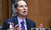 Sen. Ron Wyden, D-Ore., speaks during a Senate Finance Committee hearing on the nomination of Chris Magnus to be the next U.S. Customs and Border Protection commissioner, Tuesday, Oct. 19, 2021 on Capitol Hill in Washington. (Mandel Ngan/Pool via AP)