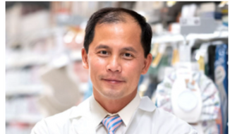 """Triet Nguyen of Annandale, Va., is shown here. A pharmacist with Safeway, Mr. Nguyen was selected by the prescription savings service SingleCare for its 2021 """"Above and Beyond"""" award. [Photo by Cheriss May, produced by Natalie Gialluca for SingleCare.]"""