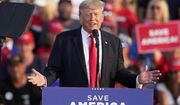 Former President Donald Trump speaks at a rally at the Lorain County Fairgrounds, Saturday, June 26, 2021, in Wellington, Ohio. (AP Photo/Tony Dejak)