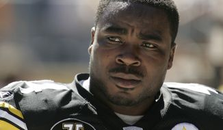 In this Sunday, Sept. 23, 2007, file photo , former Pittsburgh Steelers player Najeh Davenport is shown in Pittsburgh. Lawyers for the NFL and retired players filed proposed changes to the $1 billion concussion settlement on Wednesday, Oct. 20, 2021, to remove race-norming in dementia testing, which made it more difficult for Black players to qualify for payments. (AP Photo/Gene J. Puskar, File) **FILE**