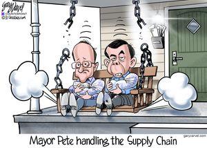 Mayor Pete handling the supply chain