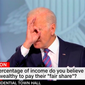 President Biden made a gesture that liberals frequently call a white supremacist dog whistle during Thursday's CNN town-hall meeting. (CNN screen shot)