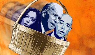 Democrats To Hell in a Hand Basket Illustration by Greg Groesch/The Washington Times