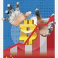 Illustration on cryptocurrency by Linas Garsys/The Washington Times